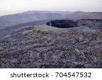 erta ale volcano danakil... | Shutterstock . vector #704547532