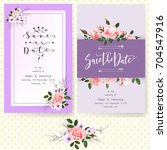 save the date card  wedding... | Shutterstock .eps vector #704547916