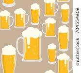beer seamless pattern   Shutterstock .eps vector #704554606