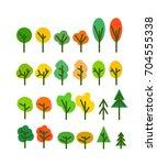 different season tree... | Shutterstock .eps vector #704555338