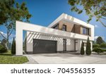 3d rendering of modern cozy... | Shutterstock . vector #704556355