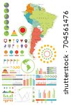 south america map and... | Shutterstock .eps vector #704561476