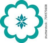 lotus flower logo template... | Shutterstock .eps vector #704570608