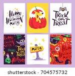vector collection of cartoon... | Shutterstock .eps vector #704575732
