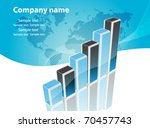 business visit card with chart   Shutterstock .eps vector #70457743