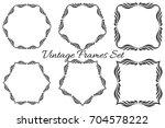 set of vector vintage luxury... | Shutterstock .eps vector #704578222