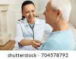 professional female doctor... | Shutterstock . vector #704578792