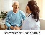 cheerful elderly man smiling | Shutterstock . vector #704578825