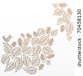 background of leaves with a...   Shutterstock .eps vector #70458130