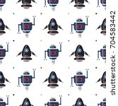 seamless pattern with cute...   Shutterstock .eps vector #704583442