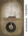 Old Tire Swing With Vintage...