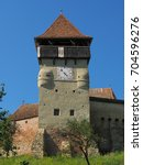 Small photo of Medieval fortified church in Alma Vii vilage - Sibiu county, Romania