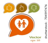 flat icon family. love between... | Shutterstock .eps vector #704597476