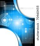 blue technology background  ... | Shutterstock .eps vector #70460455
