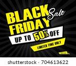 shopping sale banner template ... | Shutterstock .eps vector #704613622