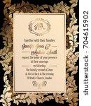 vintage baroque style wedding... | Shutterstock . vector #704615902