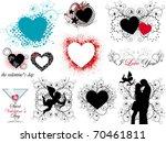 vector valentine pack