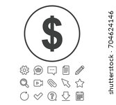 dollars sign icon. usd currency ... | Shutterstock .eps vector #704624146