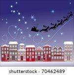 santa in town | Shutterstock .eps vector #70462489