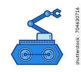 manipulator vector line icon...   Shutterstock .eps vector #704630716