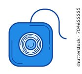 dental floss vector line icon... | Shutterstock .eps vector #704633335