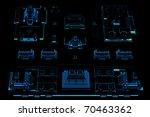 city  3d xray blue transparent  | Shutterstock . vector #70463362