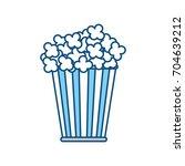 pop corn snack | Shutterstock .eps vector #704639212
