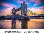 tower bridge at sunrise  london ... | Shutterstock . vector #704640988