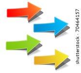 arrow set vector for design   Shutterstock .eps vector #70464157
