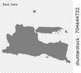 high quality map of east java... | Shutterstock .eps vector #704644732