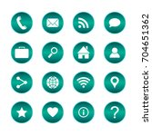 set of popular web icons.... | Shutterstock .eps vector #704651362