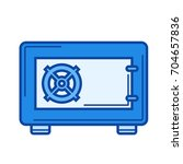 security safe vector line icon... | Shutterstock .eps vector #704657836