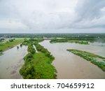 view of the devastation of... | Shutterstock . vector #704659912