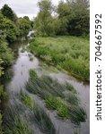 Small photo of River Avon in Chippenham, Wiltshire From Gladstone Road Bridge