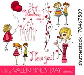 set of valentine's day elements | Shutterstock . vector #70467589