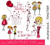 set of valentine's day elements | Shutterstock . vector #70467589