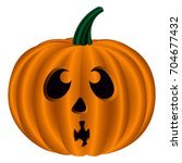 isolated pumkin icon on a white ... | Shutterstock .eps vector #704677432