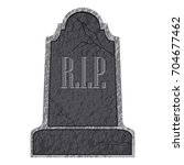 isolated tombstone icon on a... | Shutterstock .eps vector #704677462