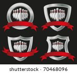set of bowling icons | Shutterstock .eps vector #70468096