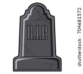 isolated tombstone icon on a... | Shutterstock .eps vector #704681572