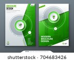 cover set. green template for... | Shutterstock .eps vector #704683426