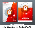 cover set. red template for... | Shutterstock .eps vector #704683468