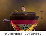 madrid   jun 22  mike shinoda ...   Shutterstock . vector #704684962