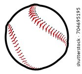 isolated baseball ball icon on... | Shutterstock .eps vector #704695195