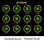 zodiac signs. collection of... | Shutterstock .eps vector #704697418