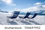 snow and sun in the mountain...   Shutterstock . vector #704697952