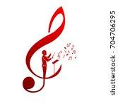 choir guide logo   Shutterstock .eps vector #704706295
