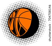 isolated comic basketball ball... | Shutterstock .eps vector #704708146