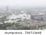 an aerial view of Houston showing the extent of flooding caused by Hurricane Harvey.