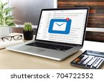 mail communication connection... | Shutterstock . vector #704722552